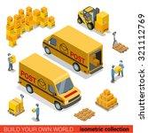 flat 3d isometric postal... | Shutterstock .eps vector #321112769