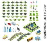 flat 3d isometric street road... | Shutterstock .eps vector #321112859
