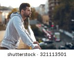 in love with his city. side...   Shutterstock . vector #321113501