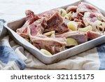 marinating of raw lamb chops...