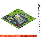 flat 3d isometric highway gas... | Shutterstock .eps vector #321117545