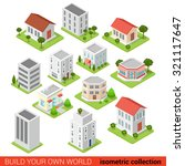 flat 3d isometric building... | Shutterstock .eps vector #321117647