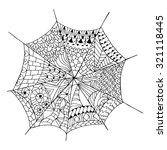 Hand Drawn Spider Web For Anti...