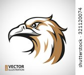 black  grey and brown eagle... | Shutterstock .eps vector #321120074