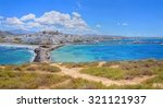 beautiful cyclades island naxos ... | Shutterstock . vector #321121937