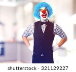 Portrait Of A Funny Clown Over...