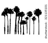 vector silhouettes of palm... | Shutterstock .eps vector #321135101