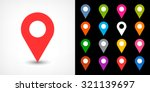 map pin sign location icon with ... | Shutterstock .eps vector #321139697
