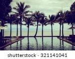 beautiful silhouette palm tree... | Shutterstock . vector #321141041
