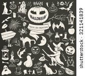 vintage drawing halloween... | Shutterstock .eps vector #321141839