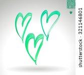 brush stroke and texture. heart ... | Shutterstock .eps vector #321146801