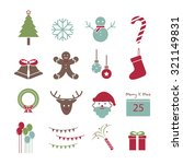 christmas icon  vector set | Shutterstock .eps vector #321149831