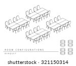 meeting room setup layout... | Shutterstock .eps vector #321150314