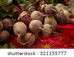 local produce at a farmers... | Shutterstock . vector #321155777