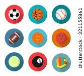 sport balls set  vector flat... | Shutterstock .eps vector #321155861