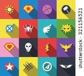 superhero badge logo  vector... | Shutterstock .eps vector #321156521