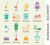 cleaning elements  vector...   Shutterstock .eps vector #321156557