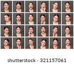 portrait collage of girl with... | Shutterstock . vector #321157061