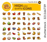 big set of food icons and... | Shutterstock .eps vector #321166739