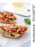 two slices of fresh homemade... | Shutterstock . vector #321168737