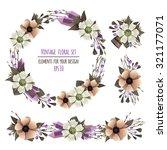 vector set of floral... | Shutterstock .eps vector #321177071