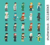 set of profession characters  ... | Shutterstock .eps vector #321180065
