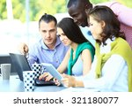 happy creative business people... | Shutterstock . vector #321180077