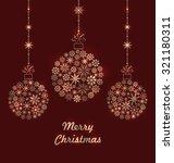 illustration christmas balls... | Shutterstock .eps vector #321180311