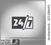 24 7 icon. open 24 hours a day... | Shutterstock .eps vector #321186641
