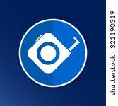 tape measure icon roulette... | Shutterstock .eps vector #321190319