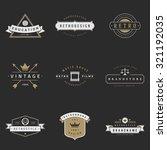 retro logotypes vector set....   Shutterstock .eps vector #321192035