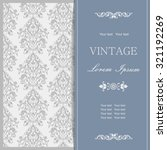vintage invitation card with... | Shutterstock .eps vector #321192269