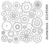 set of cartoon doodle gears....   Shutterstock .eps vector #321192404