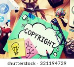 Small photo of Copyright Trademark Identity Owner Legal Concept