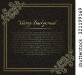 square vintage background with... | Shutterstock .eps vector #321199169