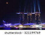 Full Moon And Lighting Show...