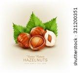 vector hazelnut isolated ... | Shutterstock .eps vector #321200351