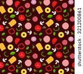 seamless pattern with... | Shutterstock .eps vector #321200861