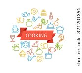 illustration cooking outline... | Shutterstock . vector #321201395