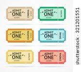 illustration color ticket set  ... | Shutterstock . vector #321201551