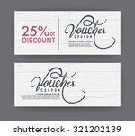 vector gift voucher template.    Shutterstock .eps vector #321202139