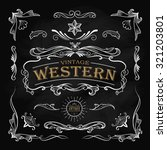 western hand drawn elements... | Shutterstock .eps vector #321203801