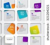 modern infographic design... | Shutterstock .eps vector #321204221