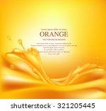 vector juicy orange background... | Shutterstock .eps vector #321205445