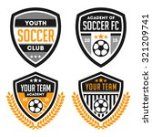 football badge and logo set | Shutterstock .eps vector #321209741