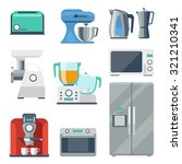 Cooking Equipment Flat Icons...