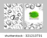 farmers food design template.... | Shutterstock .eps vector #321213731