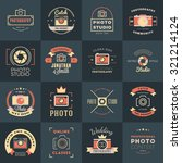 vector set of photography logo... | Shutterstock .eps vector #321214124