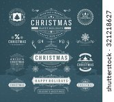 christmas decorations vector... | Shutterstock .eps vector #321218627