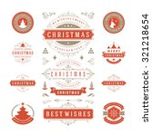christmas labels and badges... | Shutterstock .eps vector #321218654